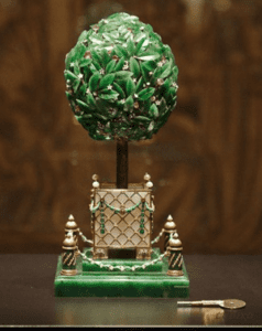 Orange tree Faberge egg